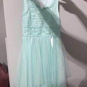 Mint green girls dress